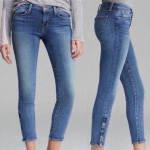 J Brand Capri Zip Skinny Leg Medium Wash Jeans 28